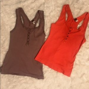 We The Free by Free people two tank tops like new!